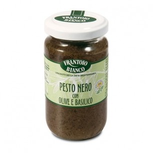 PESTO with BLACK OLIVES AND fresh BASIL