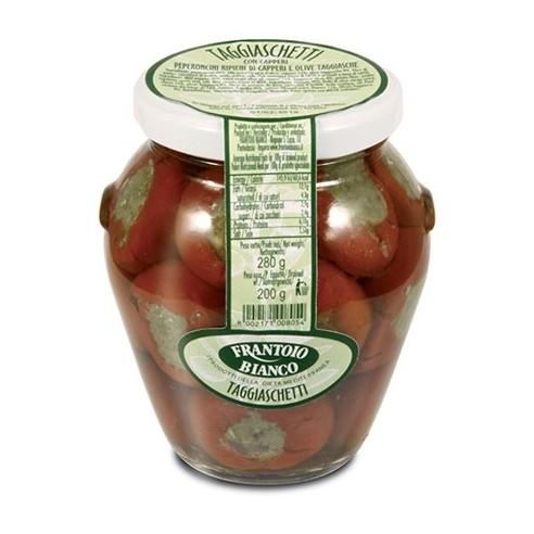 Taggiaschetti capers, taggiasca olives